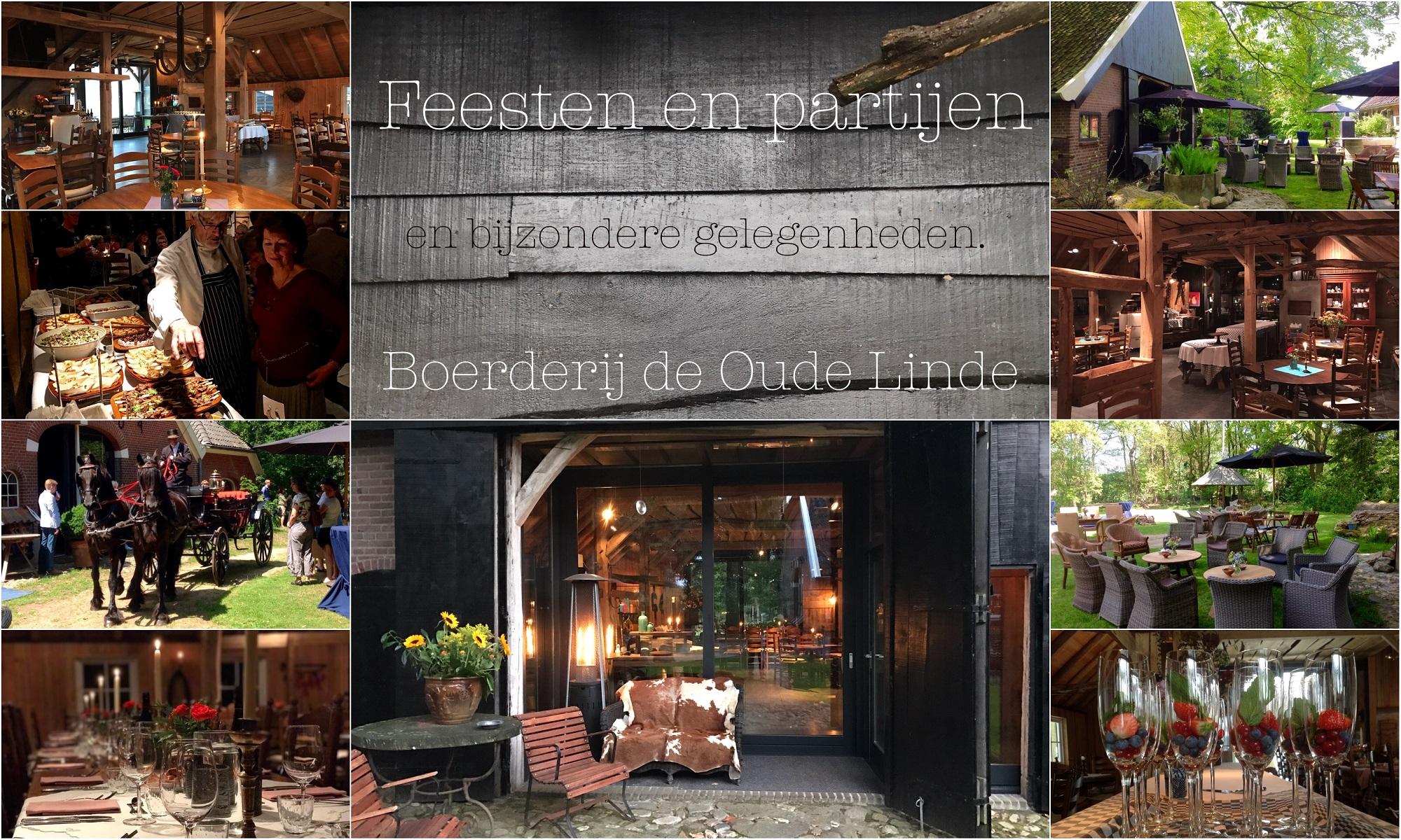 feesten, partijen en bijzondere gelegenheden bij boerderij de Oude Linde.